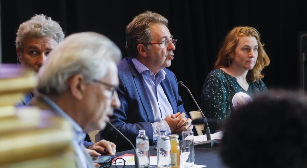 Rudi Vervoort - Présentation plan de relance bruxellois Coronavirus - Belga Thierry Roge