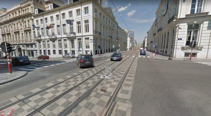Rue Royale Carrefour Parc - Capture Google Street View