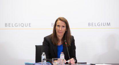 Sophie Wilmès - Conférence de presse CNS 24 juin 2020 - Belga Alexis Haulot