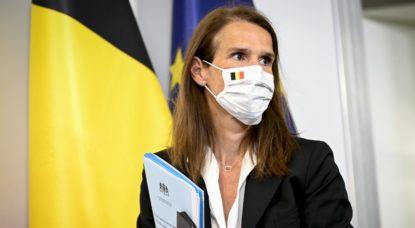 Sophie Wilmès Masque - CNS Conseil National de Sécurité 23 juillet - Belga Dirk Waem