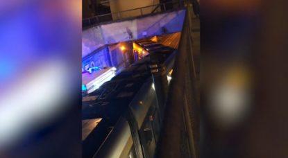 Tram déraille Rue du Progrès Lemmonier - Belga Video