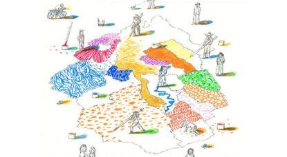 Zomer Vitrine d'été - Projet Passa Porta Illustrateurs