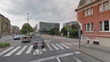Schaerbeek : une nouvelle piste cyclable provisoire sur le boulevard Lambermont