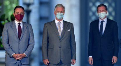 Bart De Wever Paul Magnette Roi Philippe - Belga Benoit Doppagne