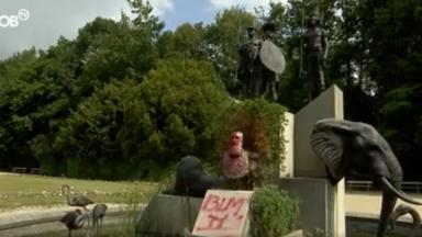 La statue de Léopold II à nouveau dégradée au Musée de l'Afrique à Tervuren