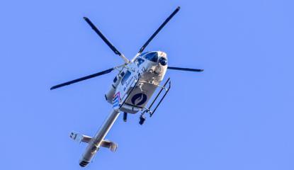 police hélicoptère