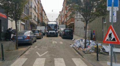 Collecte déchets Rue Vandeweyer Schaerbeek - Commune de Schaerbeek