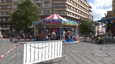 Annulation de la Foire du Midi : quelques forains s'installent sur les places de Bruxelles