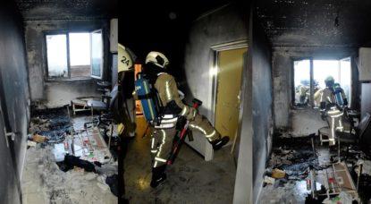 Incendie Molenbeek Boulevard Mettewie 26082020 - Walter Derieuw Pompiers de Bruxelles