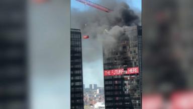 Incendie dans une tours en travaux du WTC