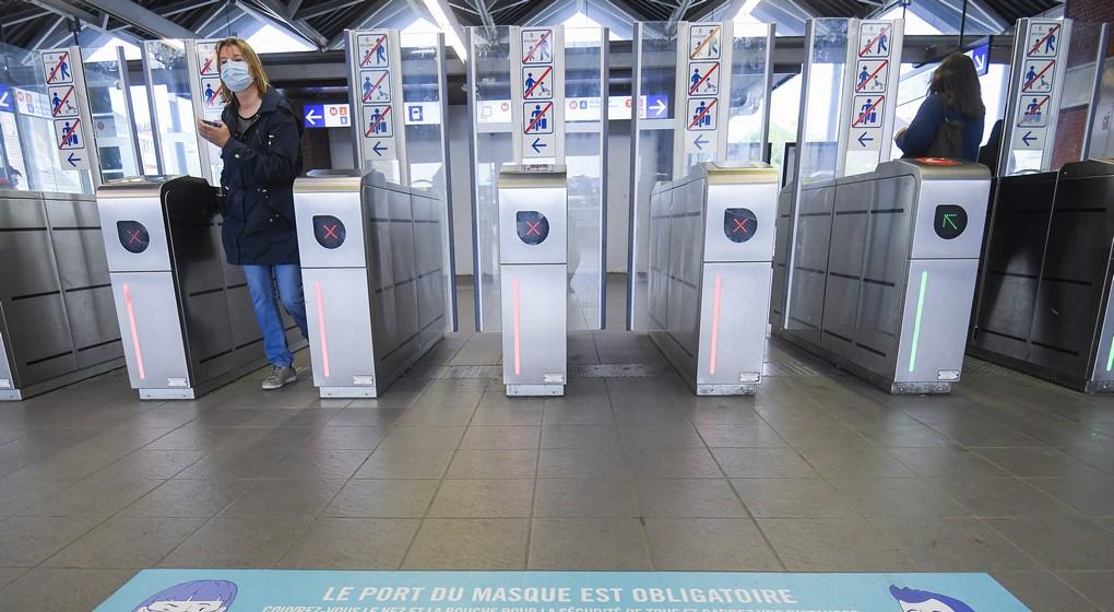 Métro Port du Masque obligatoire - Belga Laurie Dieffembacq