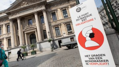Le Conseil d'État rejette une demande contre le port du masque obligatoire à Bruxelles