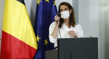 Sophie Wilmes - Conférence de presse CNS - Belga Pool François Lenoir