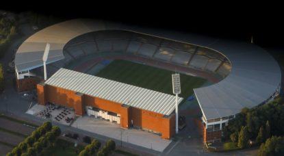 Stade Roi Baudouin vide Vue aérienne - Belga Thierry Roge