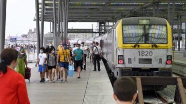 Week-end du 15 août : la SNCB supprime des trains à destination de la Côte