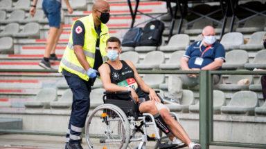 Championnat de Belgique d'athlétisme : Kevin et Jonathan Borlée se blessent en finale du 100 m