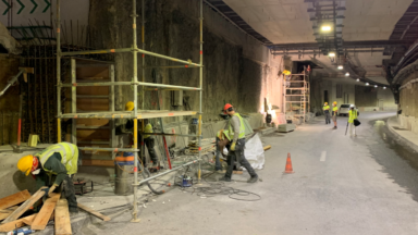 Les travaux du tunnel Léopold II doivent être terminés pour le 1er septembre
