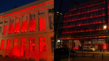 RedAlertBelgium : des lieux culturels s'illuminent en rouge pour réclamer plus de soutien