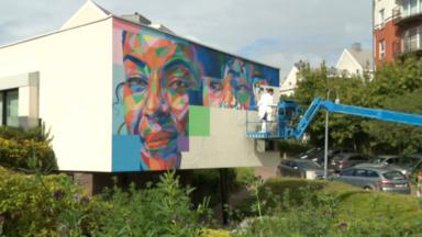 L'artiste new-yorkais Kool Koor participe, en compagnie  d'autres, au parcours street art de Jette