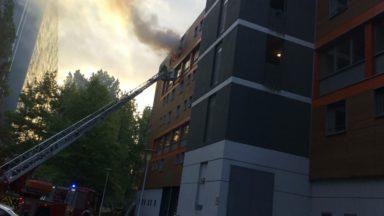 Incendie dans un bâtiment du quartier Peterbos à Anderlecht
