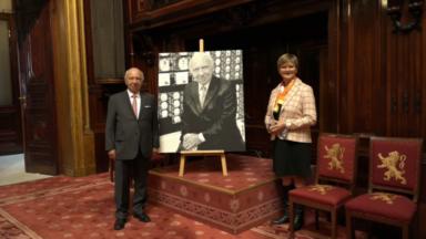 Le Sénat dévoile le portait de son ancien président, Jacques Brotchi