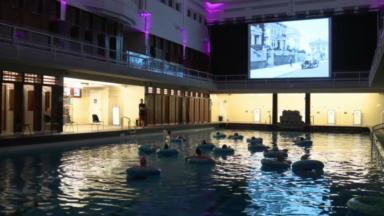 La piscine de Saint-Josse se transforme en salle de ciméma le temps d'une soirée