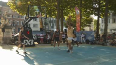 Ambiance à l'américaine pour le tournoi de Basket 3VS3 dans le quartier Dansaert