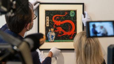 Un dessin d'Hergé estimé à 2 millions d'euros exposé à Bruxelles avant une vente à Paris