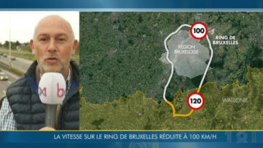 La vitesse limitée à 100 km/h sur le Ring de Bruxelles