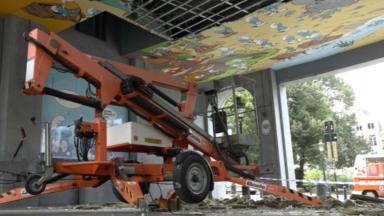 La fresque des Schtroumpfs à la Gare Centrale s'est effondrée ce matin