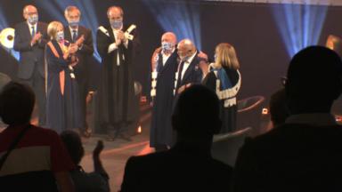 Simon Gronowski et Koenraad Tinel reçoivent le titre de docteur honoris causa