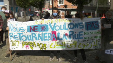 Manifestation contre les expulsions domiciliaires