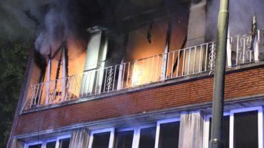 Berchem-Sainte-Agathe: important incendie avenue Charles-Quint
