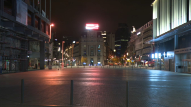Bruxelles sous couvre-feu : à 22h, une ville déserte