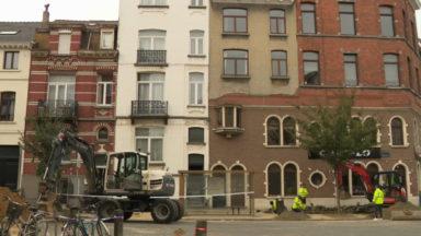 Plusieurs bâtiments menacent de s'effondrer avenue du Diamant à Schaerbeek