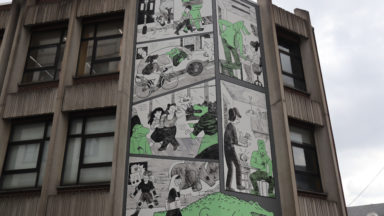 Gatti de Gamond inaugure une fresque contre le harcèlement de rue