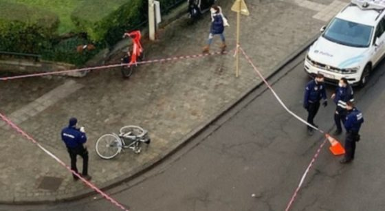 Accident cycliste Schaerbeek Rue du Noyer - Twitter LaNomadeSed - NE PAS REUTILISER