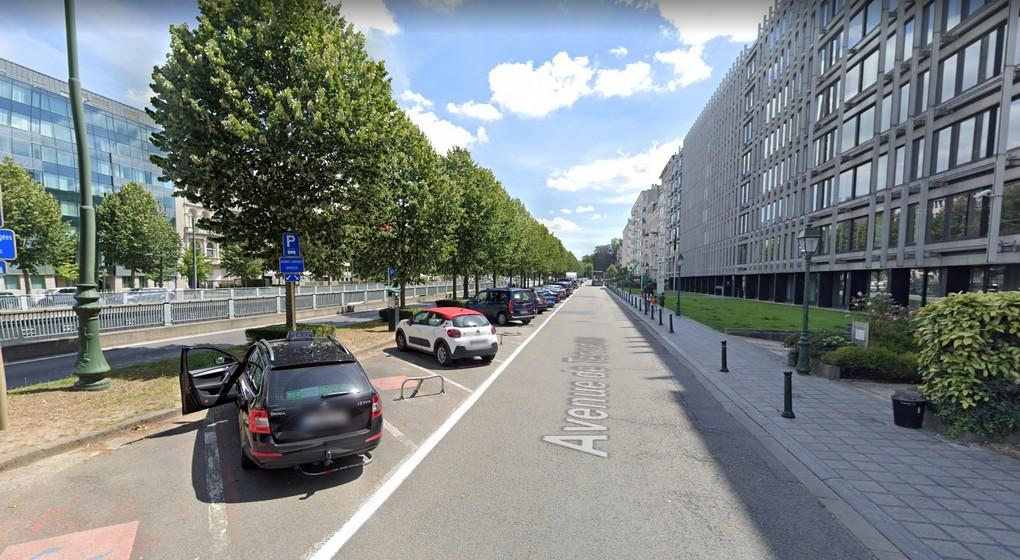 Avenue de Tervueren - Futures pistes cyclables - Capture Google Street View