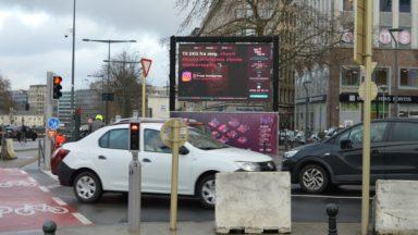 Des messages de soutien et des vœux diffusés sur grand écran à Bruxelles, Molenbeek et Saint-Josse