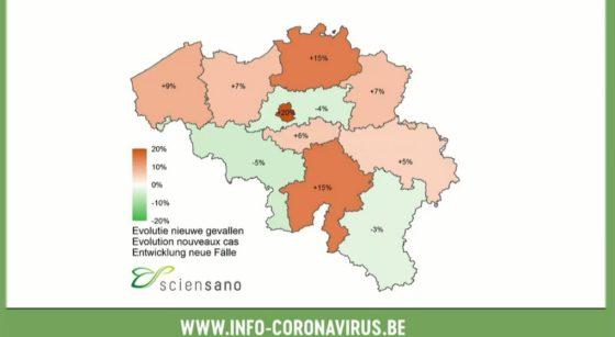 Carte Nouveaux Cas Covid-19 au 23122020 - Sciensano