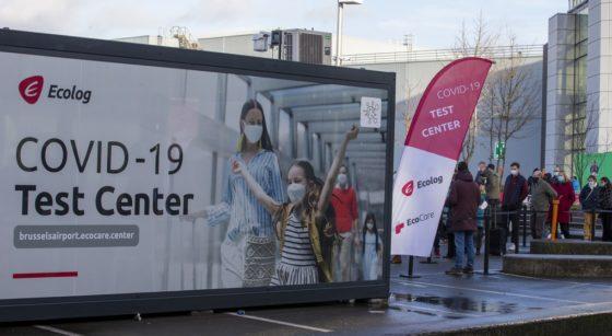 Centre de test Covid-19 Coronavirus Brussels AIrport Zaventem - Belga Nicolas Maeterlinck