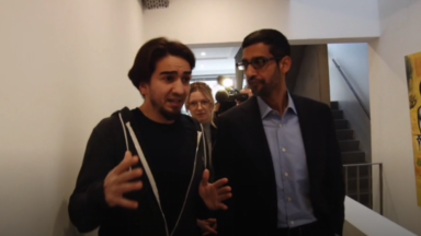 Le PDG de Google se souvient encore de sa visite à MolenGeek