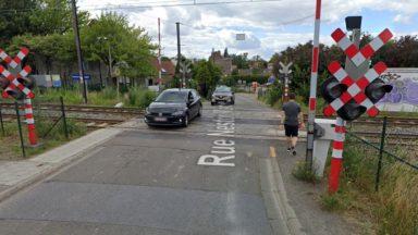 Berchem-Sainte-Agathe : la rue Nestor Martin passe à sens unique à hauteur du passage à niveau