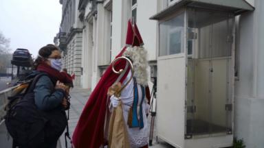 Saint-Nicolas plaide pour le climat au 16 rue de la Loi