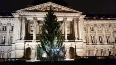 Le sapin de Noël est installé devant le Palais royal