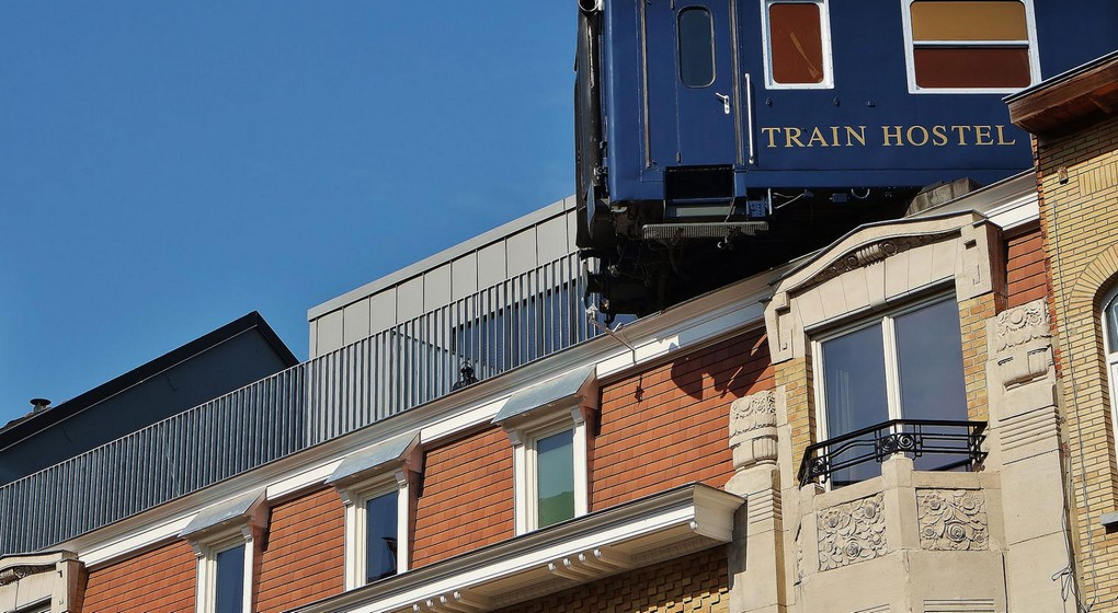 Train Hostel Schaerbeek - Illustration