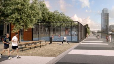 Le parc du quai Beco le long du canal ne verra pas le jour avant 2024