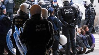 """Manifestation au Mont des Arts : la CGSP police dénonce des """"actes inadmissibles"""" de la part de policiers"""