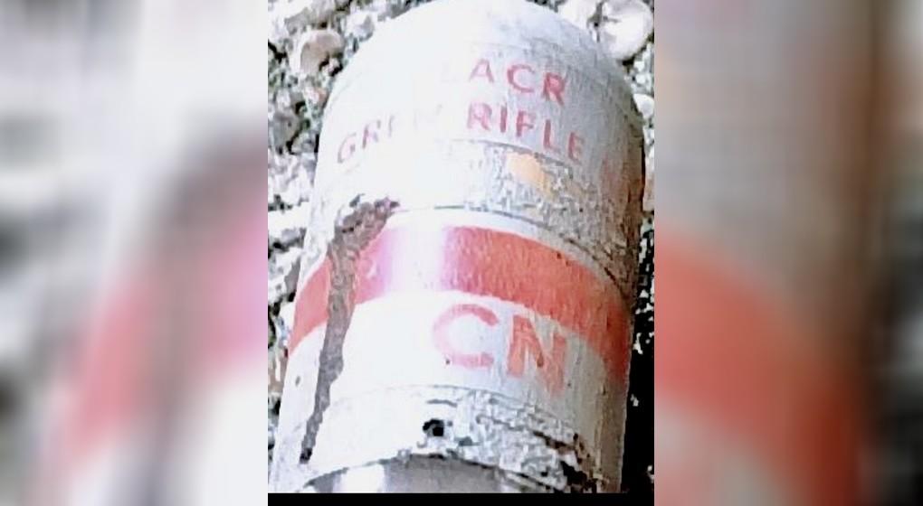 Grenade Lacrymogène retrouvée VUB - BX1