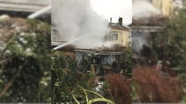 Une maison complètement sinistrée après un incendie à Watermael-Boitsfort